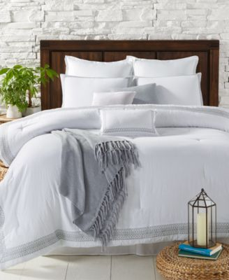 Light Up Any Roomu0027s Clean Classic Look With The Bright White Tone And  Embroidered Geometric Borders Of These Super Soft Edison Comforter Sets.