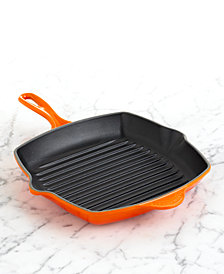 "Le Creuset Enameled Cast Iron 10.25"" Square Grill Pan"