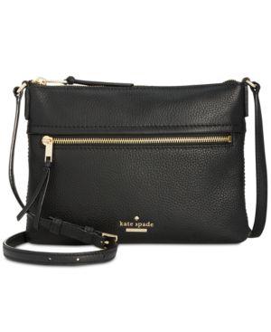 Jackson Street - Gabriele Leather Crossbody Bag - Black