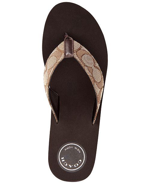 414afdddb5d COACH Jen Wedge Thong Sandals   Reviews - Sandals   Flip Flops ...