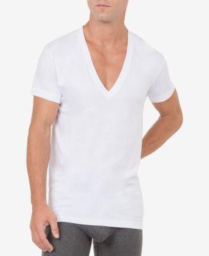 2(X)IST 2(X)Ist Men'S Slim-Fit Deep V-Neck 3 Pack Undershirt in White