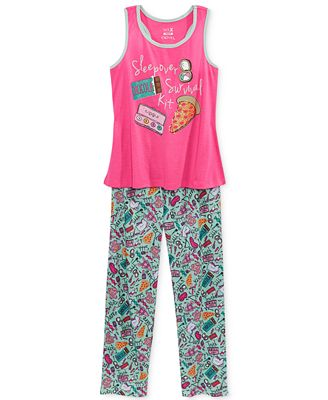Max & Olivia 2-Pc. Sleepover Survival Kit Pajama Set, Big Girls (7-16)