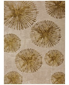 Cosmopolitan Haight Brushed Gold 8' x 11' Area Rug