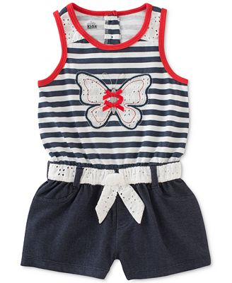 Kids Headquarters Butterfly Romper, Toddler & Little Girls (2T-6X)