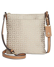 Julia Monogram Jacquard North South Crossbody