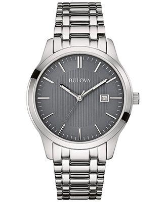 Bulova Men's Stainless Steel Bracelet Watch 40mm 96B224
