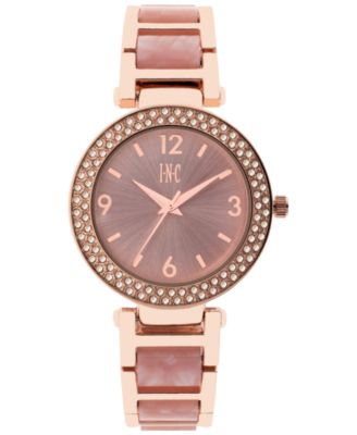 Image of INC International Concepts Women's Marbled Acrylic Bracelet Watch 36mm, Only at Macy's