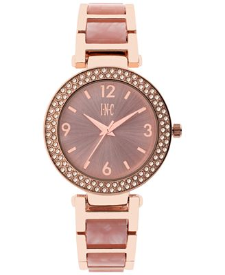 INC International Concepts Women's Marbled Acrylic Bracelet Watch 36mm, Only at Macy's