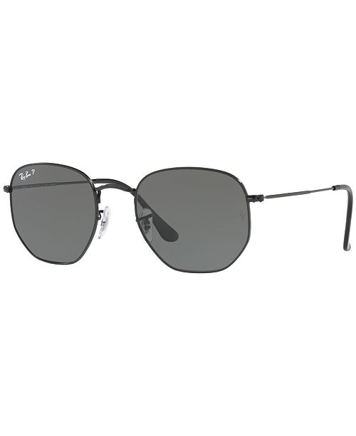 Ray-Ban Polarized Hexagonal Flat Lens Sunglasses, RB3548N 54 ...
