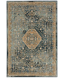 "Touchstone Suir Blue Teal 2'4"" x 7'10"" Runner Rug"