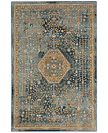 Karastan Touchstone Suir Blue Teal Area Rugs