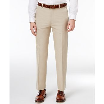 Tommy Hilfiger Modern-Fit Khaki Solid Stretch Mens Pants