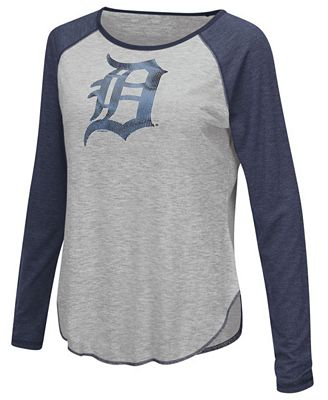 Touch by Alyssa Milano Women's Detroit Tigers Line Drive Long Sleeve T-Shirt
