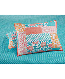 CLOSEOUT! Martha Stewart Collection Flower Patch  100% Cotton Quilted Standard Sham, Created for Macy's