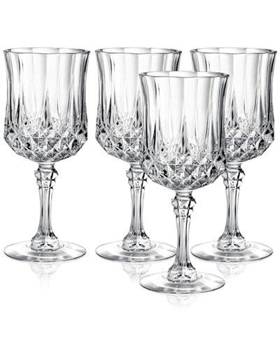 Cristal D'Arques Longchamp Set of 4 Goblets