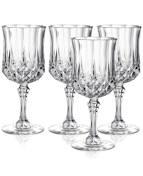 Longchamp Cristal D'Arques Set of 4 Goblets