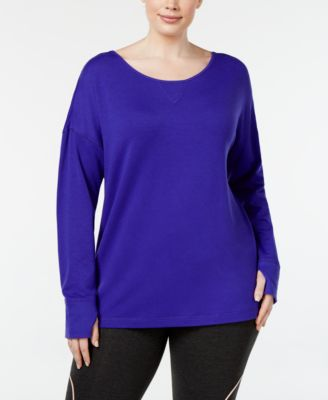 Ideology Plus Size Cutout-Back Top, Only at Macy's