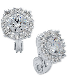 Anne Klein Crystal Stud E-Z Comfort Clip-on Earrings