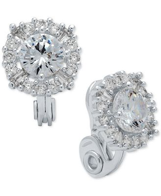 Anne Klein Crystal Stud Clip On Earrings Jewelry Watches Macy S