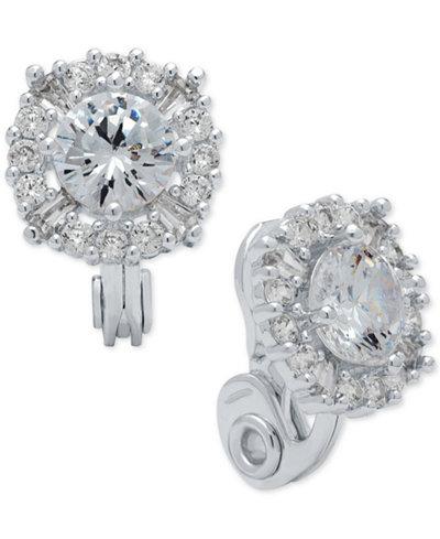 Anne Klein Crystal Stud Clip-on Earrings