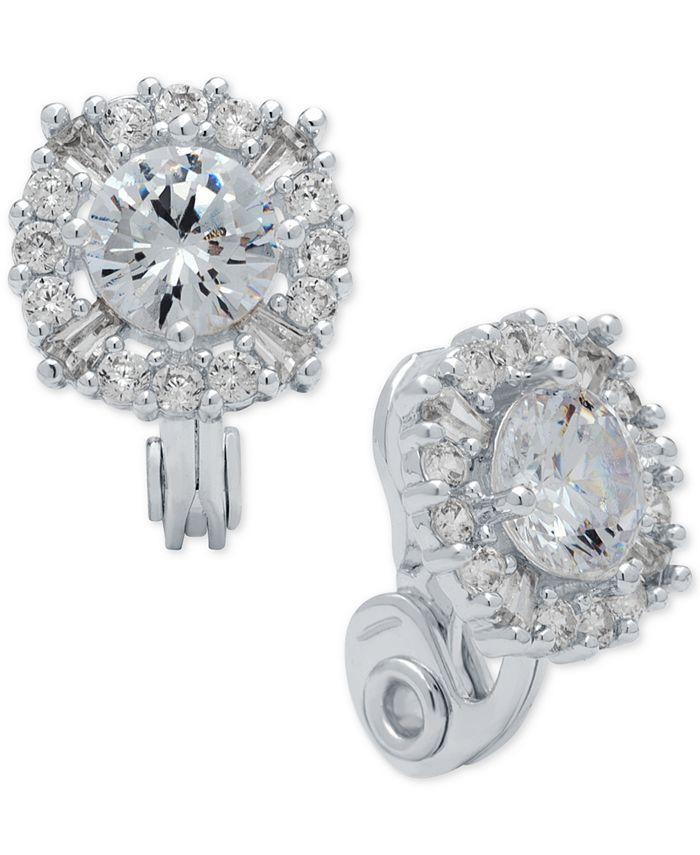Anne Klein - Crystal Stud Clip-on Earrings