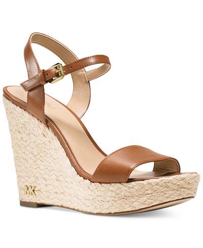 Michael Michael Kors Jill Espadrille Wedge Sandals
