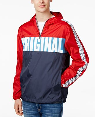 Original Penguin Men's Windbreaker Pullover - Coats & Jackets ...