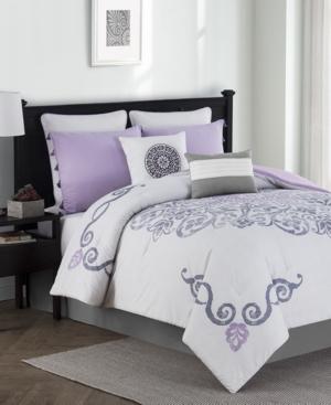 Huntley Reversible 8Pc Queen Comforter Set Bedding