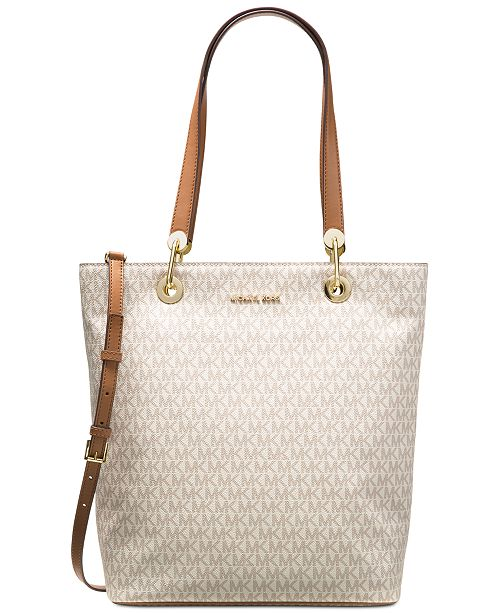 735605a15316 ... Michael Kors Signature Raven Large North South Top Zip Tote ...
