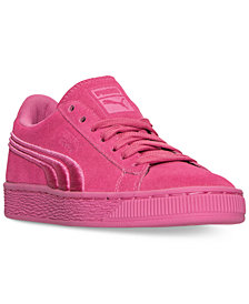 Puma Big Girls' Suede Classic Badge Casual Sneakers from Finish Line
