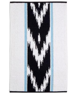 "CLOSEOUT! Sedona Canyon Cotton Chevron Stripe 20"" x 32"" Bath Rug, Created for Macy's"