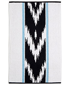 "CLOSEOUT! Whim by Martha Stewart Collection Sedona Canyon Cotton Chevron Stripe 20"" x 32"" Bath Rug, Created for Macy's"