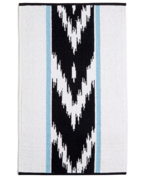 "Whim by Martha Stewart Collection Sedona Canyon Cotton Chevron Stripe 20"" x 32"" Bath Rug, Created for Macy"