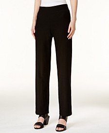 Washable Crepe Straight-Leg Pants, Regular & Petite
