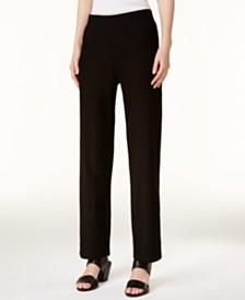 Eileen Fisher SYSTEM Washable Crepe Straight-Leg Pants, Regular & Petite