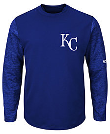 Majestic Men's Kansas City Royals AC On-Field Tech Fleece Pullover