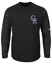 Majestic Men's Colorado Rockies AC On-Field Tech Fleece Pullover