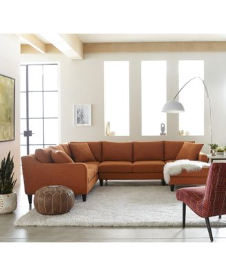Nario Fabric Sectional Collection Created For Macys