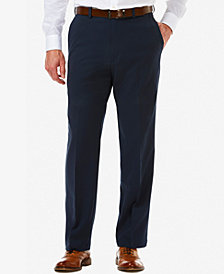 Men's Haggar® Cool 18® PRO Classic-Fit Flat-Front Expandable Waist Pants