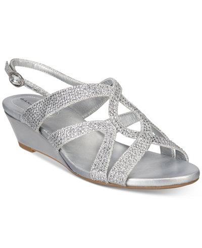 Bandolino Gomeisa Embellished Wedge Sandals