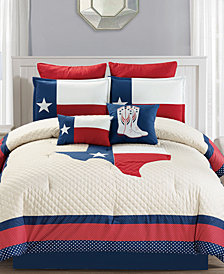 CLOSEOUT! Ryden 8-Pc. Quilted Comforter Sets