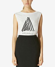 Avec Les Filles Cotton Graphic-Print Muscle T-Shirt