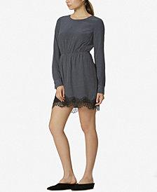 Avec Les Filles Lace-Trim Printed Dress