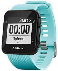 Garmin Unisex Forerunner® 35 Blue Silicone Strap GPS Smart Watch 40.7x40.7mm