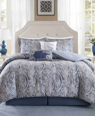 Stella 6PC Paisley Print Full Comforter Set