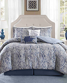 Harbor House Stella 5PC Paisley Print Full/Queen Duvet Set