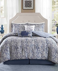 Harbor House Stella 5PC Paisley Print King Duvet Set