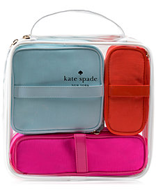 Receive a FREE 4-Pc. Cosmetic Bag Set with any $98 purchase from the kate spade new york fragrance collection