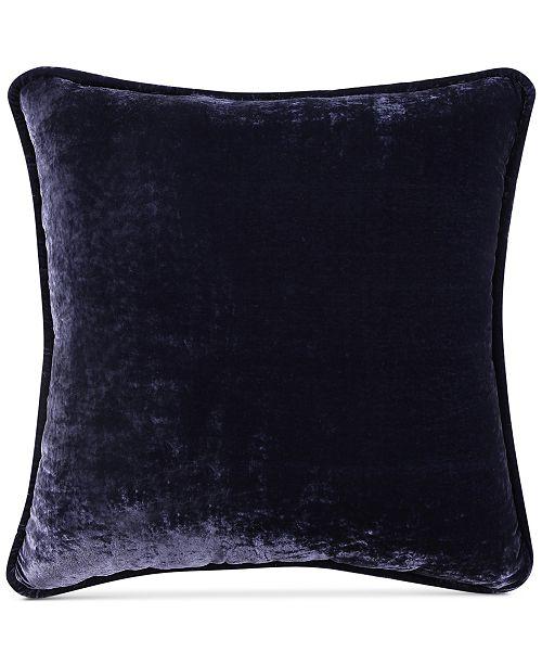 "Tracy Porter CLOSEOUT! Fleur Solid Crushed Velvet 20"" Square Decorative Pillow"