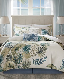 Lorelei 6-Pc. Palm Print California King Comforter Set